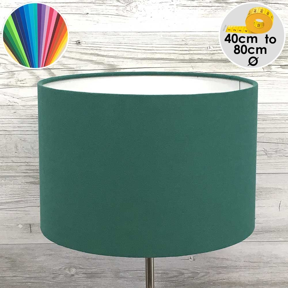 Extra Large Green Drum Table Lampshade